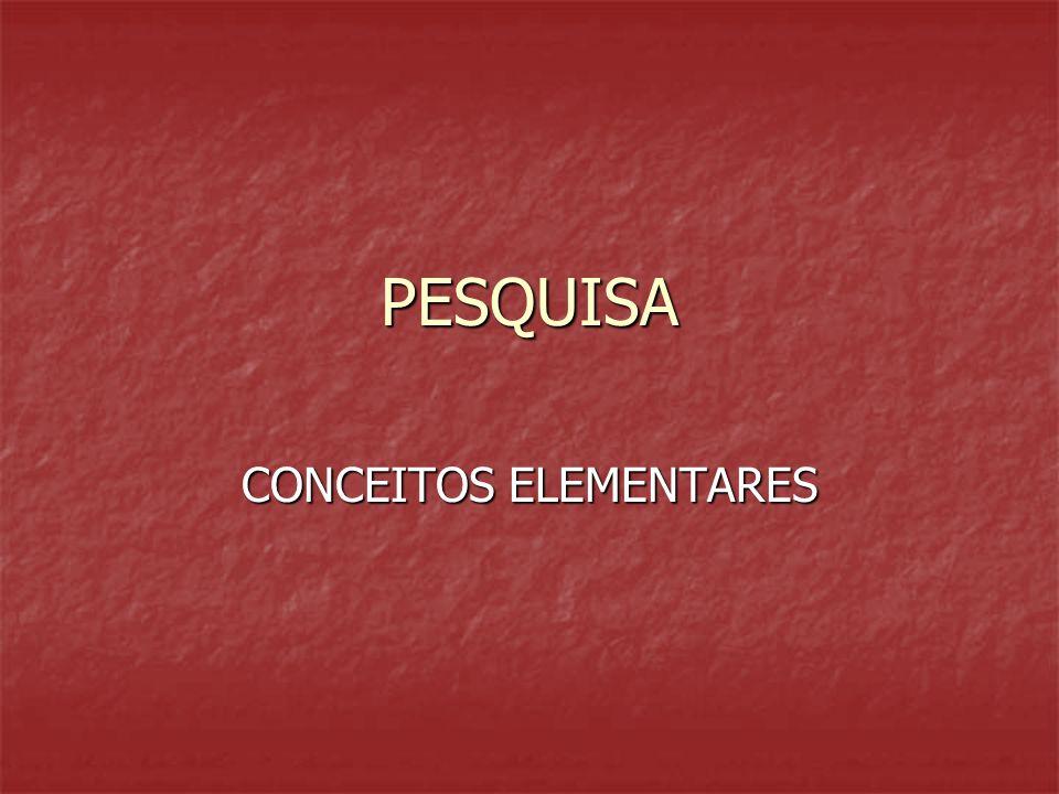 CONCEITOS ELEMENTARES