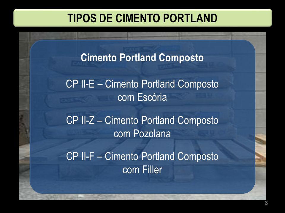 TIPOS DE CIMENTO PORTLAND Cimento Portland Composto