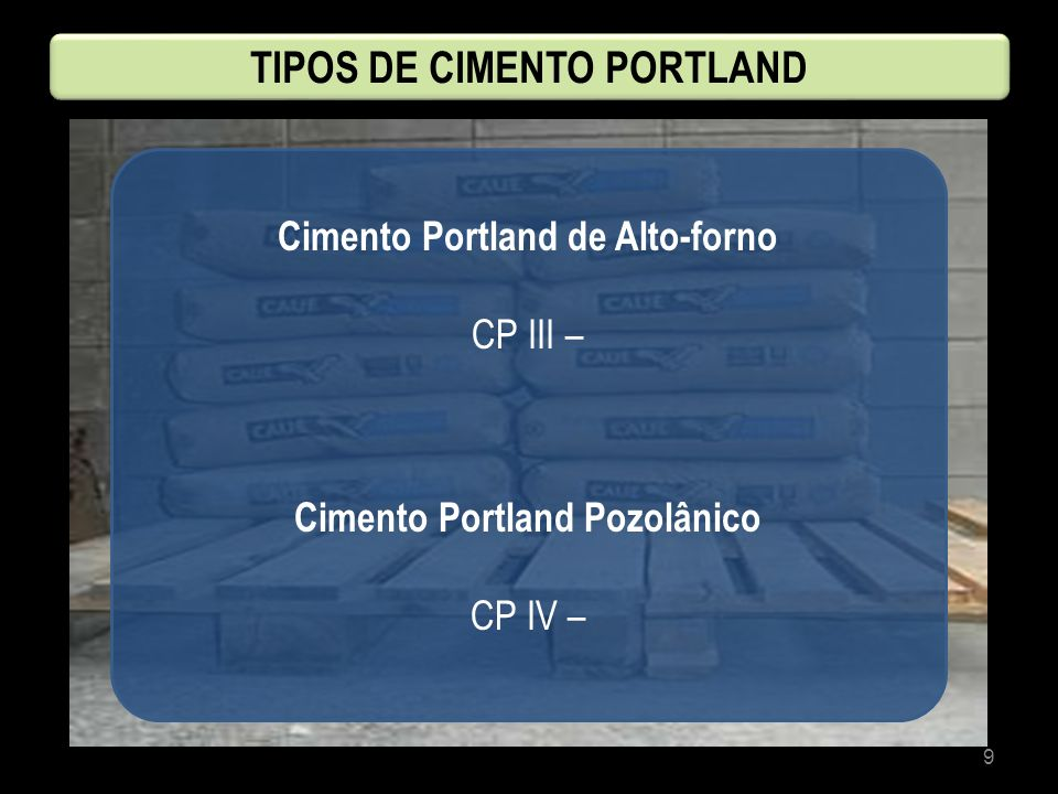 TIPOS DE CIMENTO PORTLAND