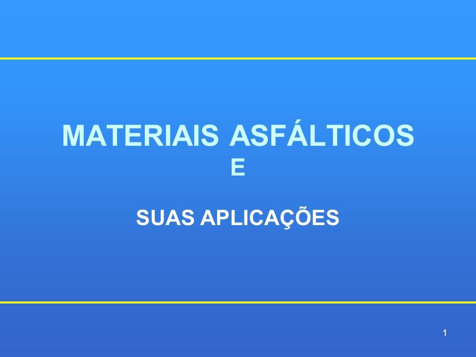 MATERIAIS ASFÁLTICOS E