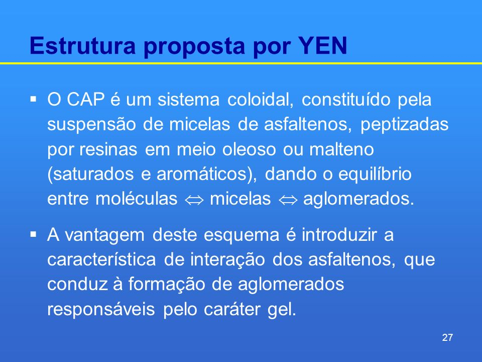 Estrutura proposta por YEN