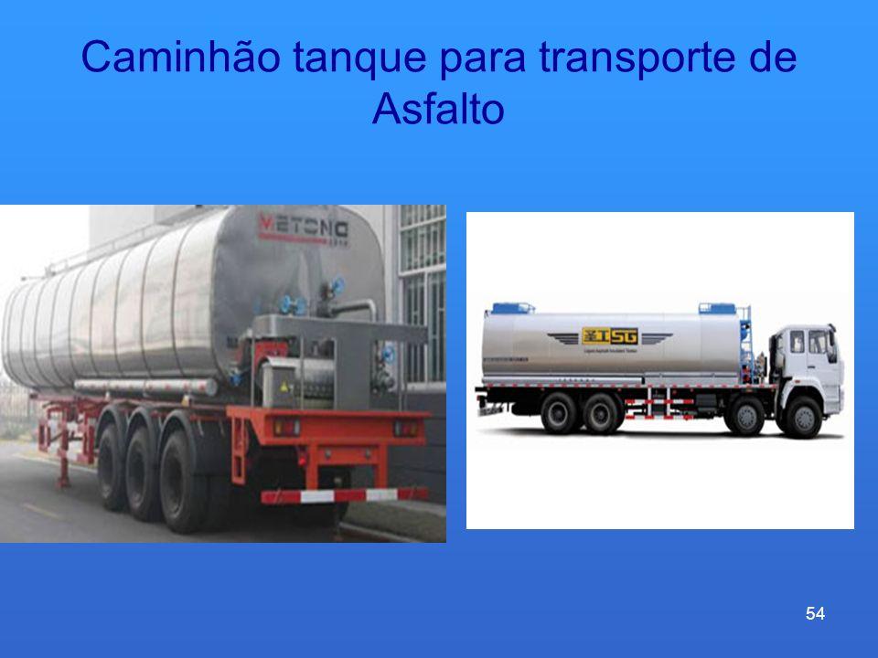Caminhão tanque para transporte de Asfalto