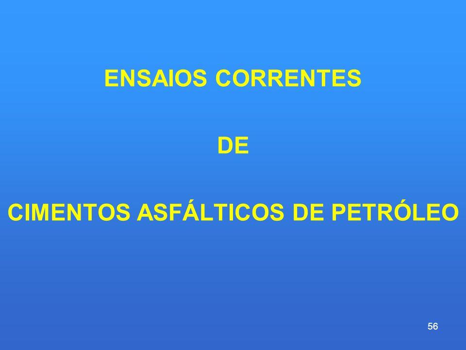 CIMENTOS ASFÁLTICOS DE PETRÓLEO