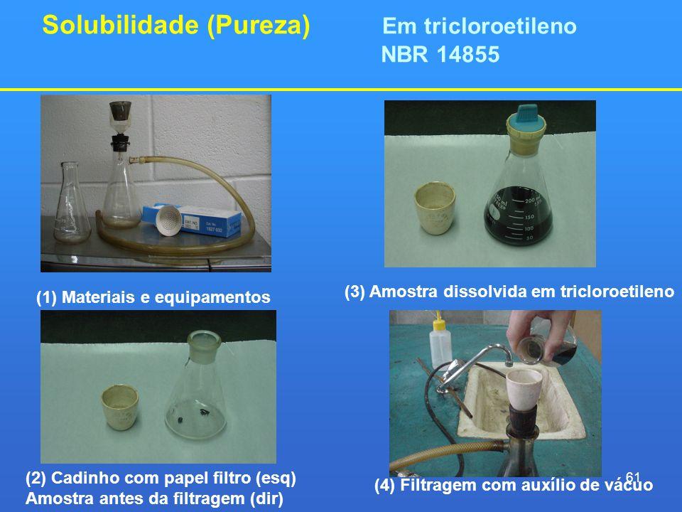 Solubilidade (Pureza) Em tricloroetileno NBR 14855