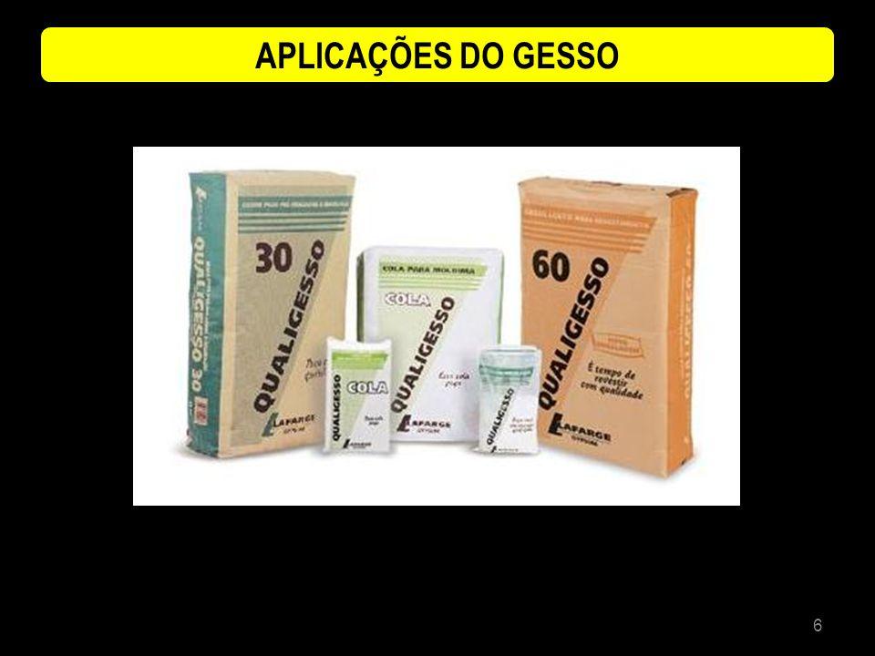 APLICAÇÕES DO GESSO