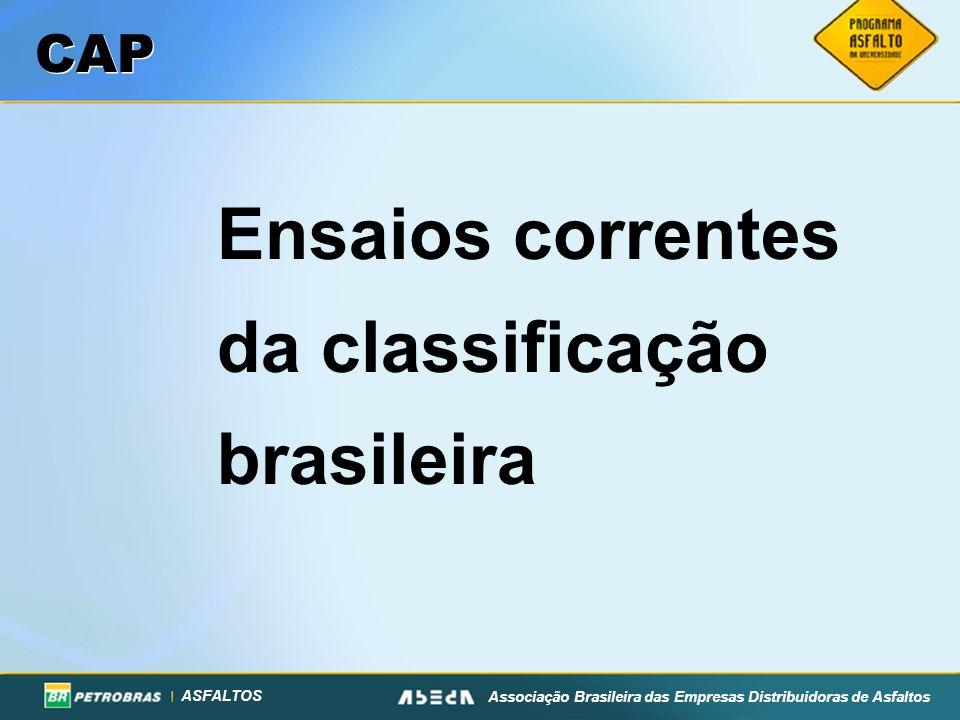 Ensaios correntes da classificação brasileira