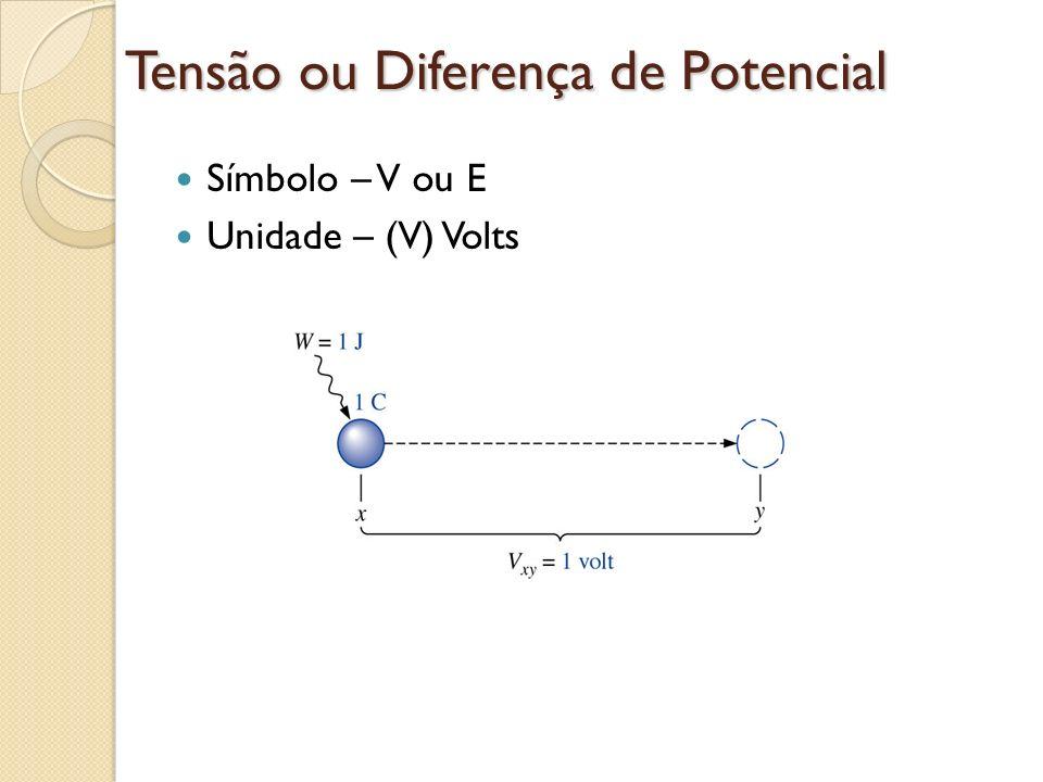 Tensão ou Diferença de Potencial