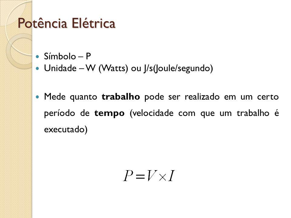 Potência Elétrica Símbolo – P