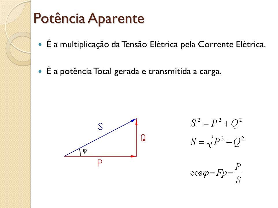 Potência AparenteÉ a multiplicação da Tensão Elétrica pela Corrente Elétrica.