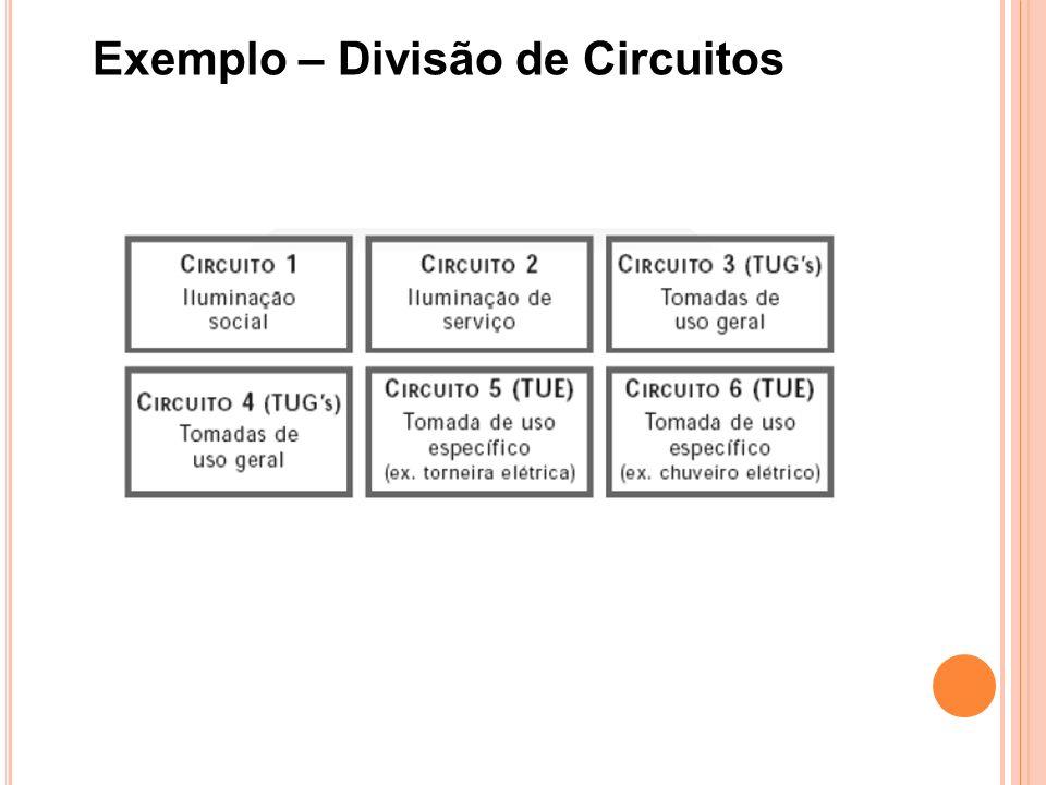 Exemplo – Divisão de Circuitos