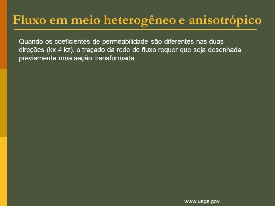 Fluxo em meio heterogêneo e anisotrópico
