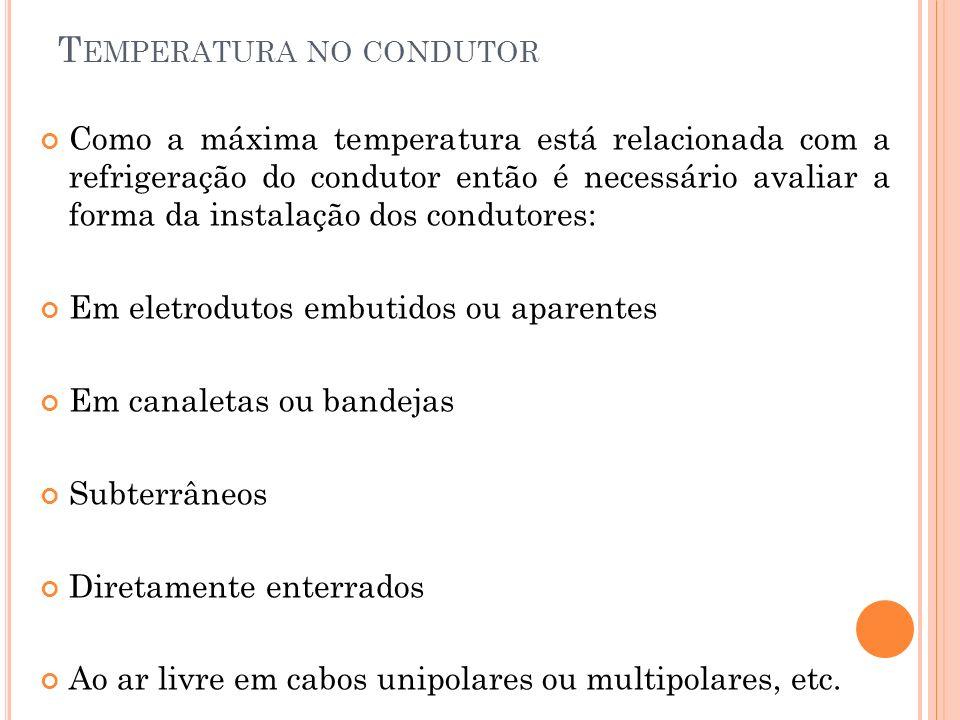 Temperatura no condutor