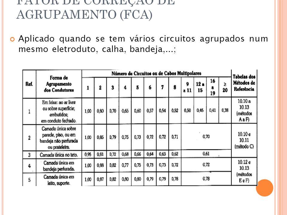 FATOR DE CORREÇÃO DE AGRUPAMENTO (FCA)