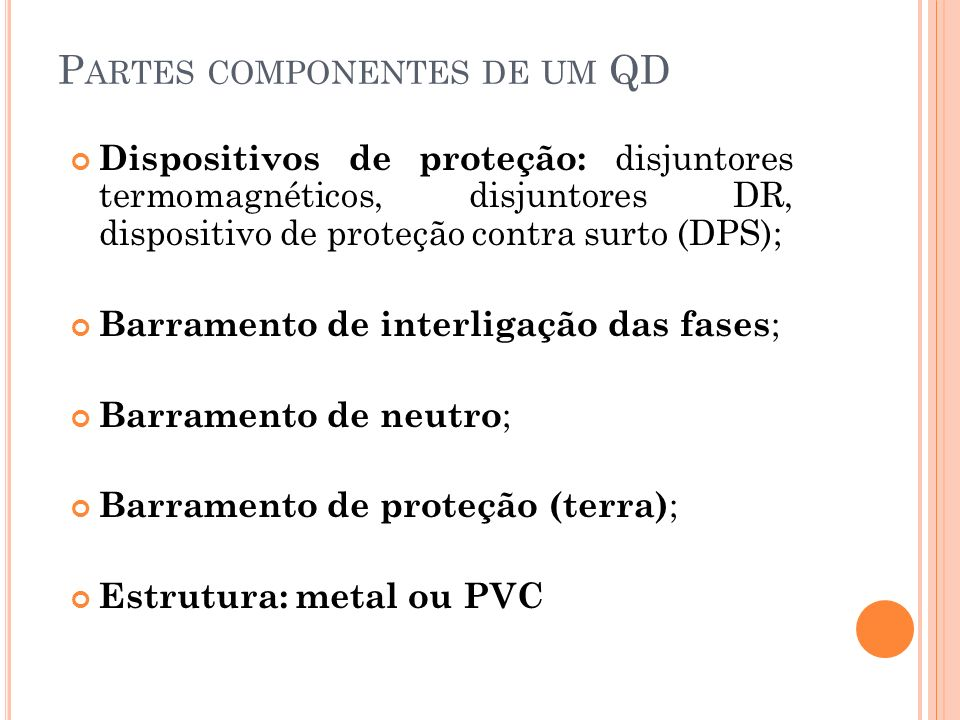 Partes componentes de um QD