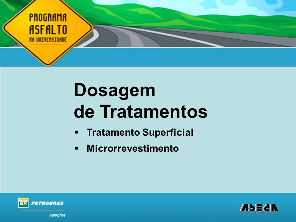 Dosagem de Tratamentos Tratamento Superficial Microrrevestimento