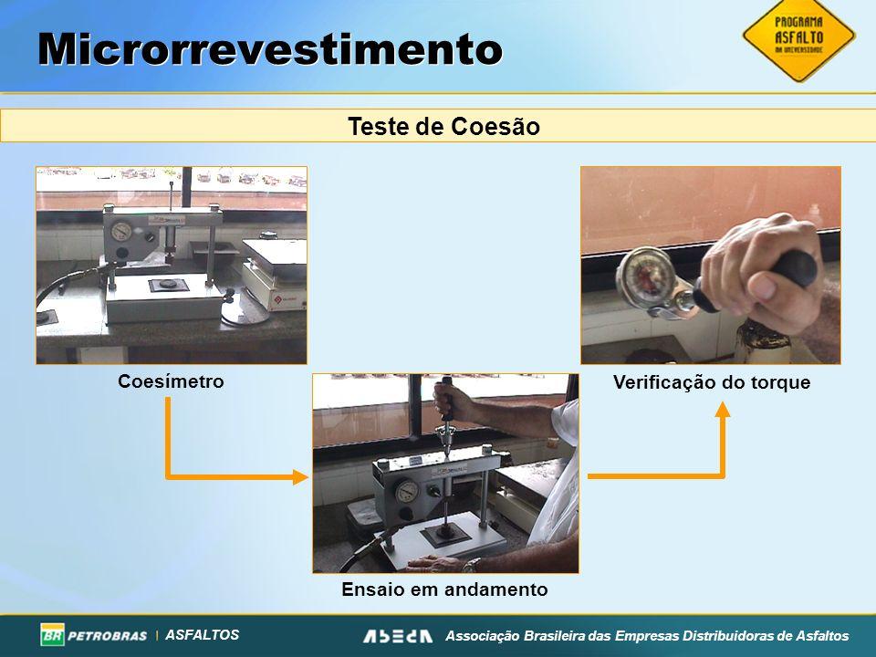 Microrrevestimento Teste de Coesão Coesímetro Verificação do torque