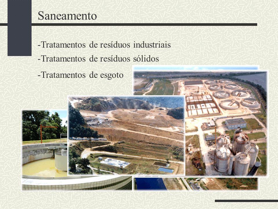 Saneamento Tratamentos de resíduos industriais