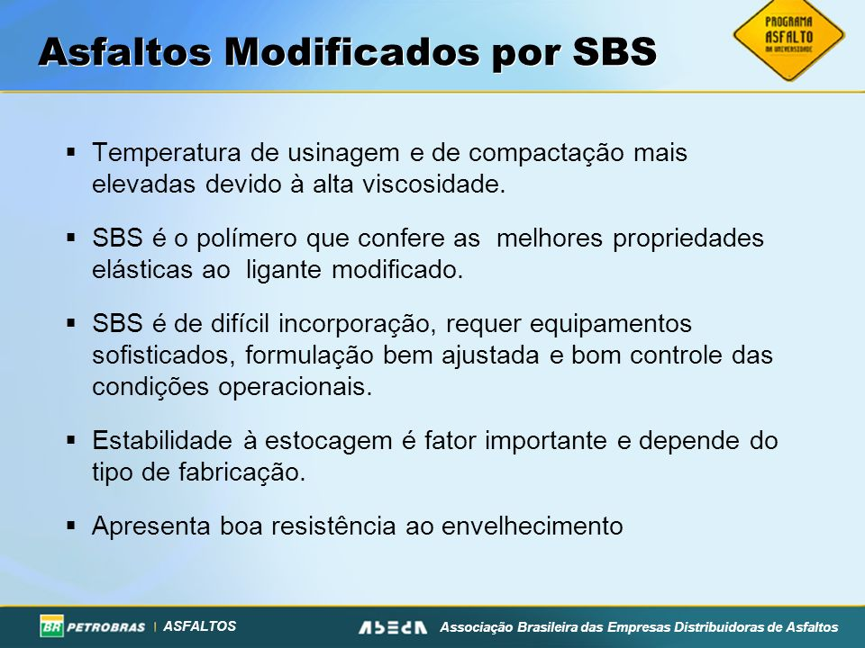 Asfaltos Modificados por SBS