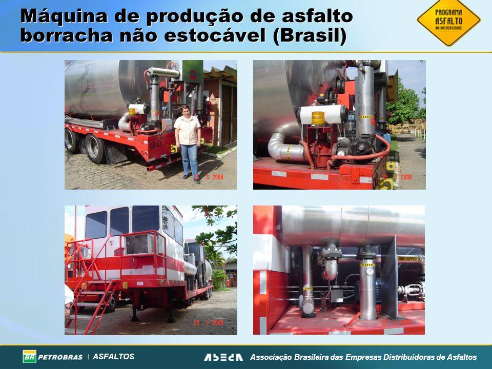 Máquina de produção de asfalto borracha não estocável (Brasil)