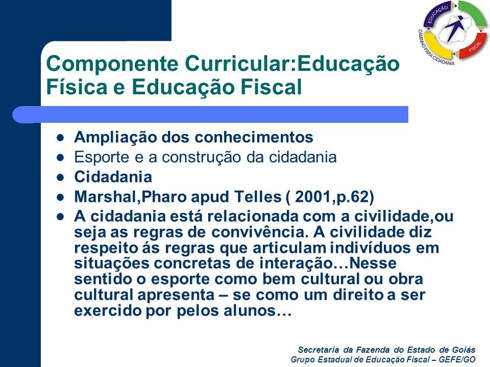 Componente Curricular:Educação Física e Educação Fiscal