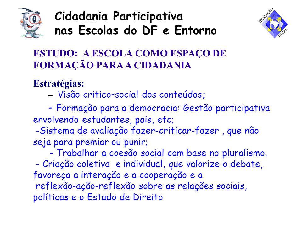 Cidadania Participativa nas Escolas do DF e Entorno