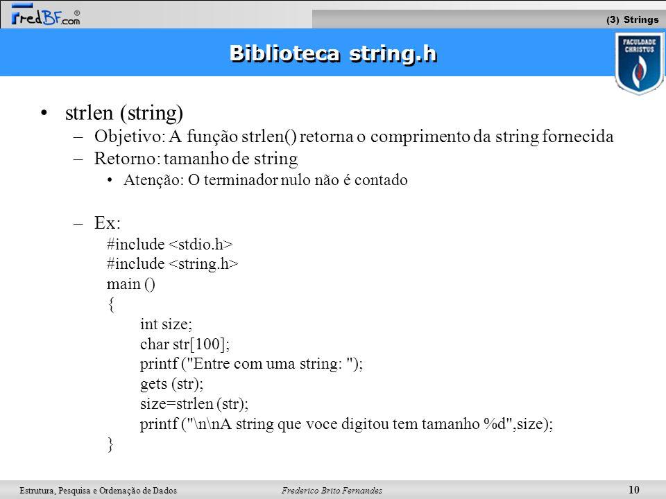 strlen (string) Biblioteca string.h