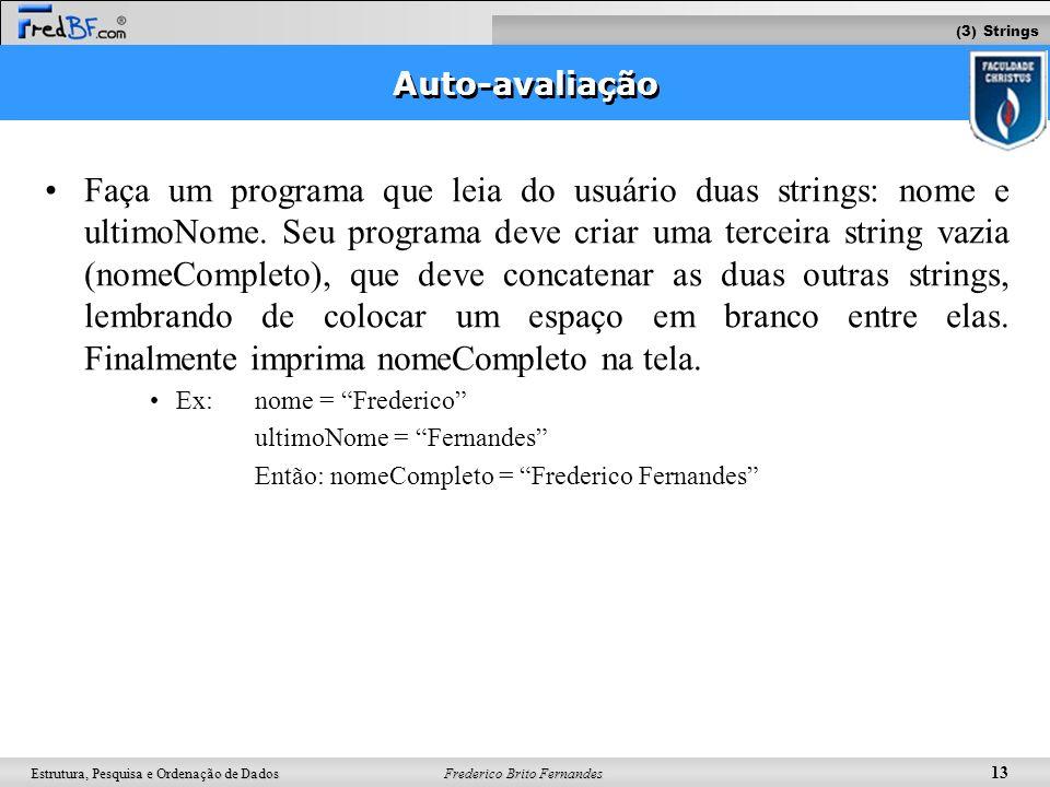 (3) Strings Auto-avaliação.