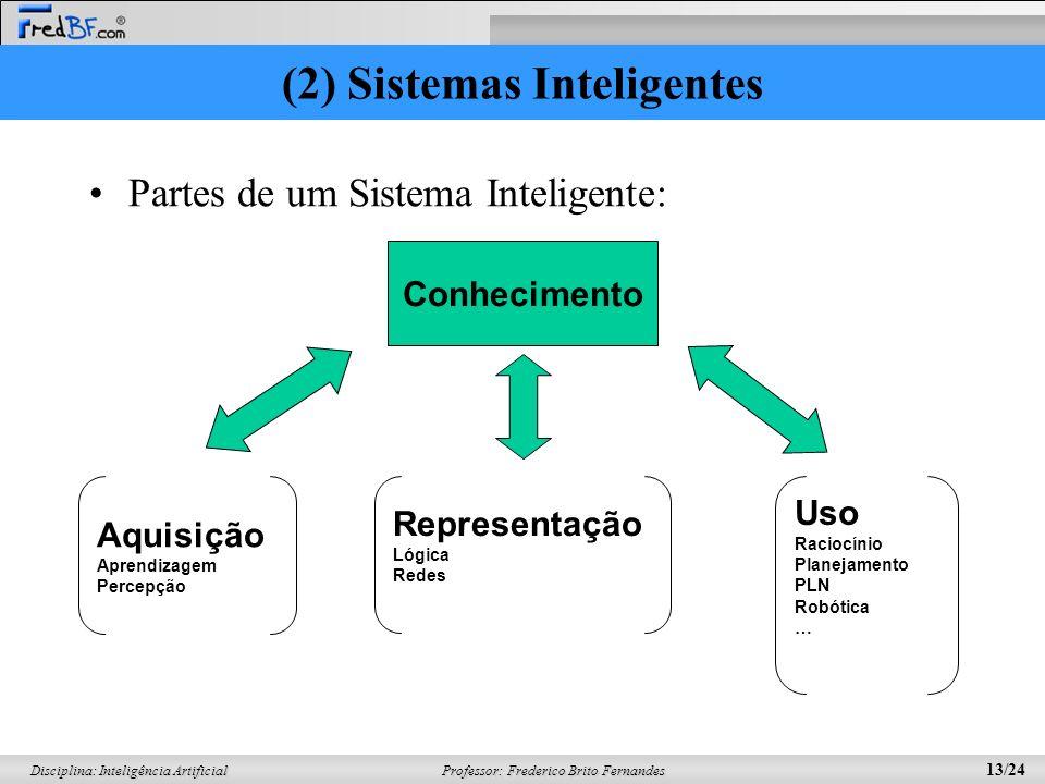 (2) Sistemas Inteligentes