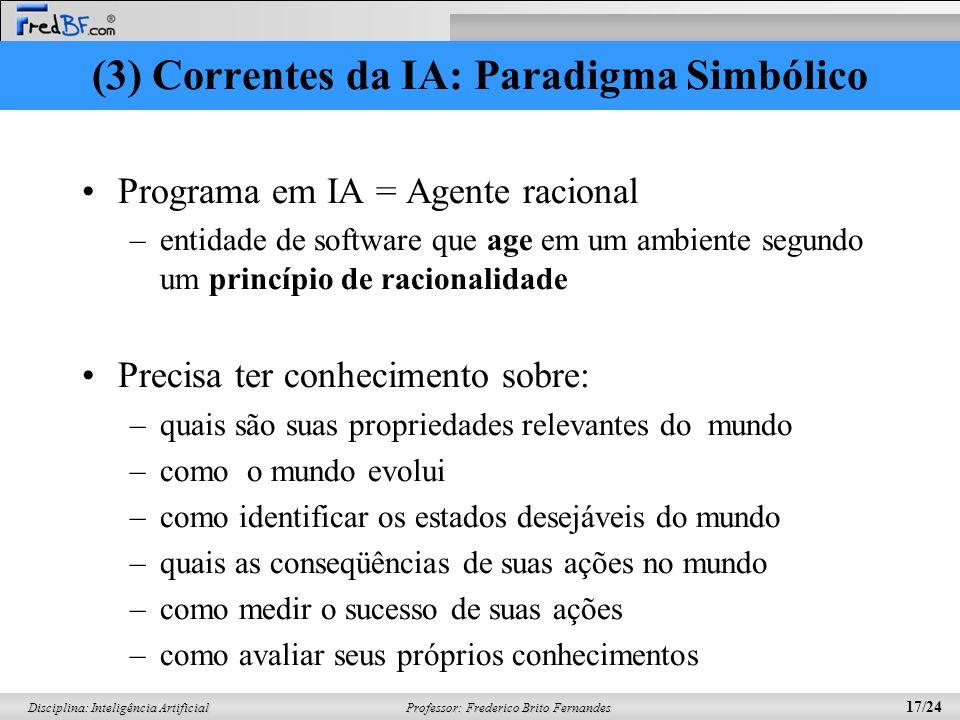 (3) Correntes da IA: Paradigma Simbólico
