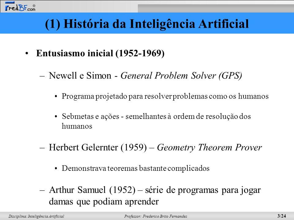 (1) História da Inteligência Artificial