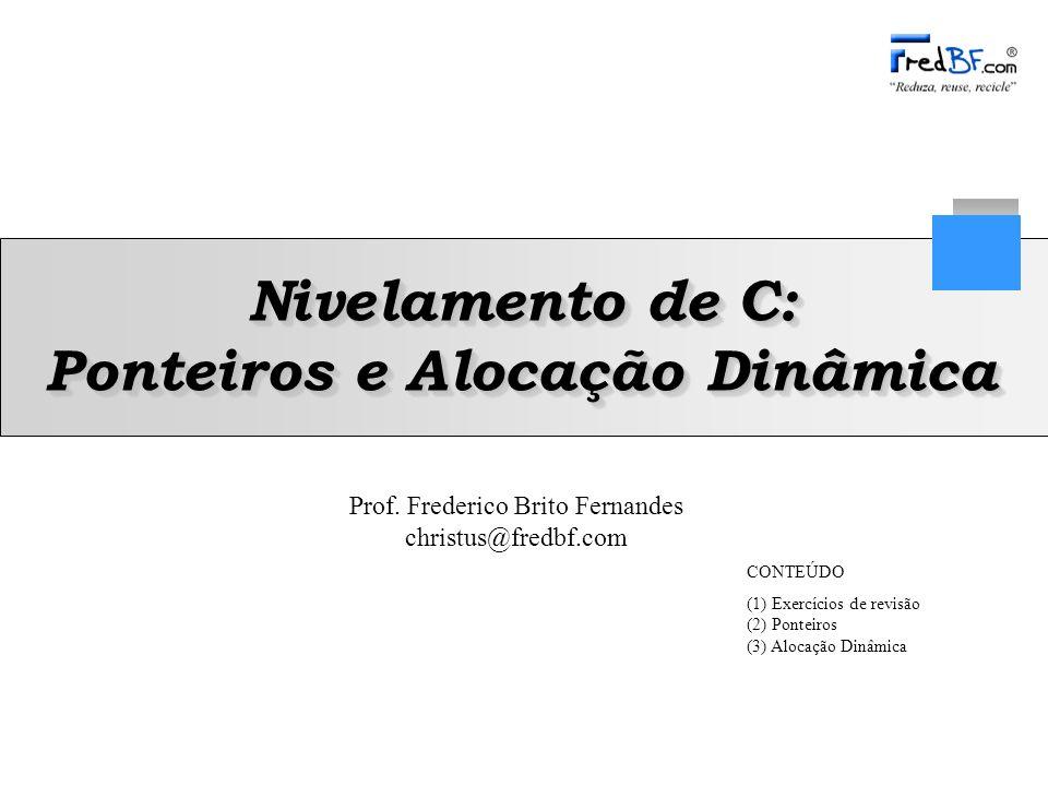 Nivelamento de C: Ponteiros e Alocação Dinâmica