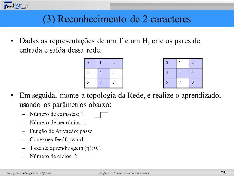 (3) Reconhecimento de 2 caracteres