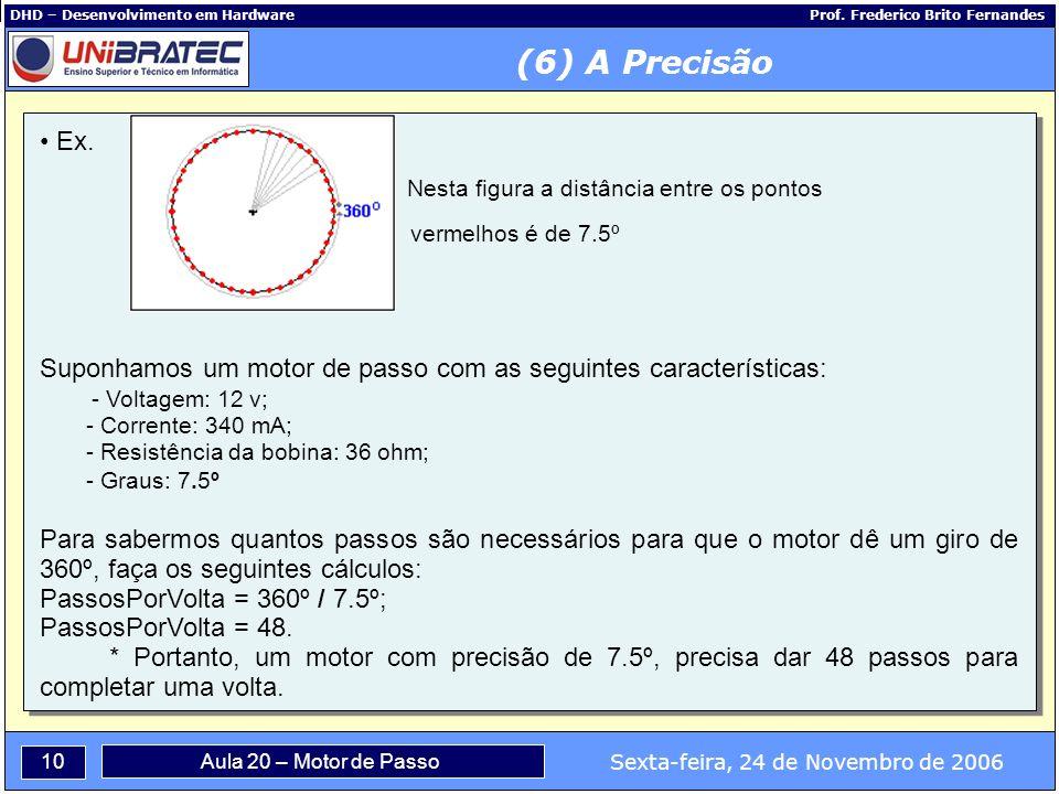 (6) A Precisão Ex. Nesta figura a distância entre os pontos