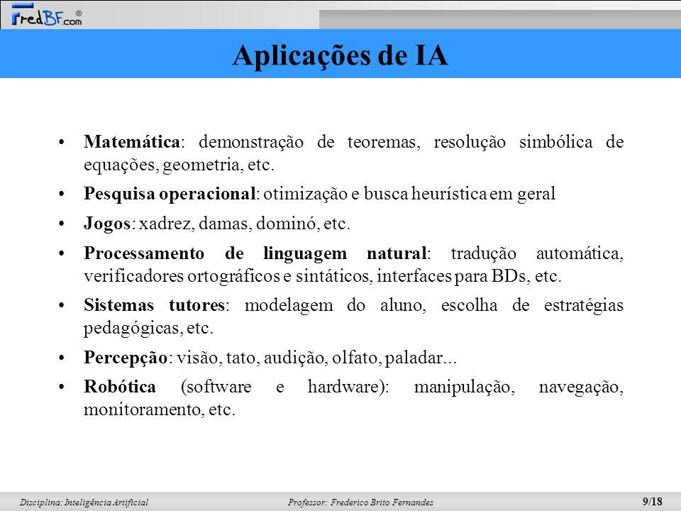 Aplicações de IA Matemática: demonstração de teoremas, resolução simbólica de equações, geometria, etc.