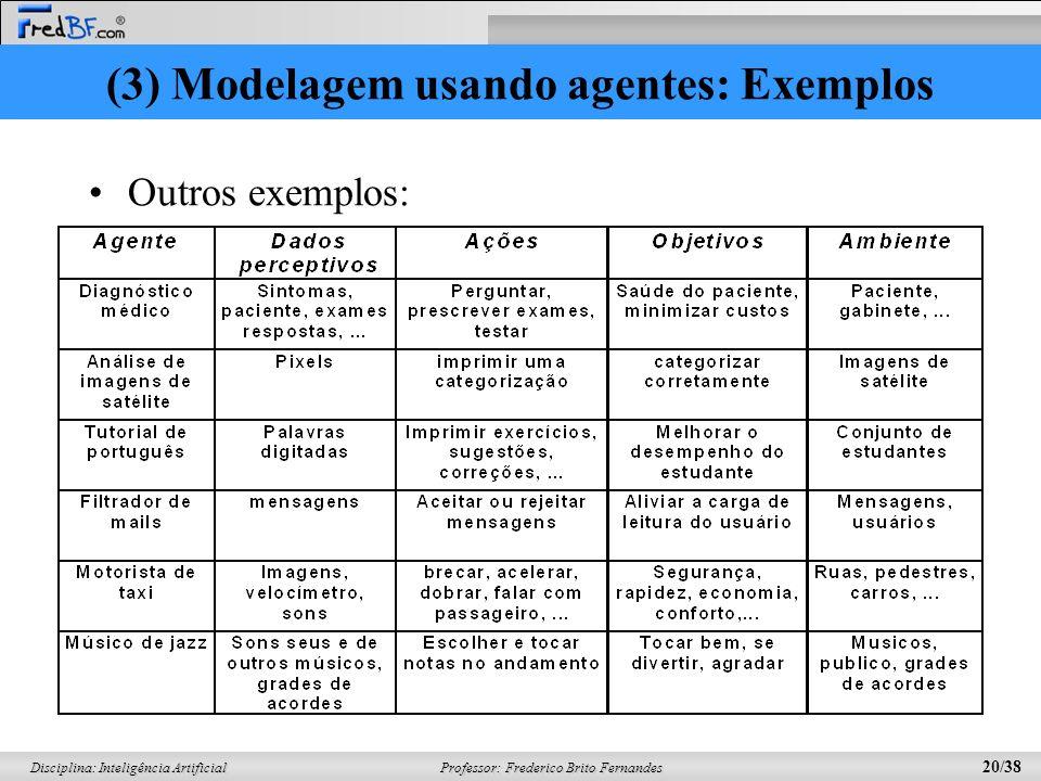 (3) Modelagem usando agentes: Exemplos