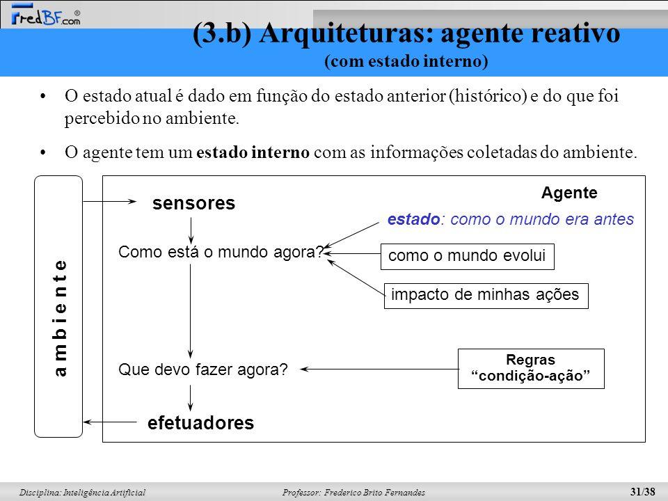 (3.b) Arquiteturas: agente reativo (com estado interno)