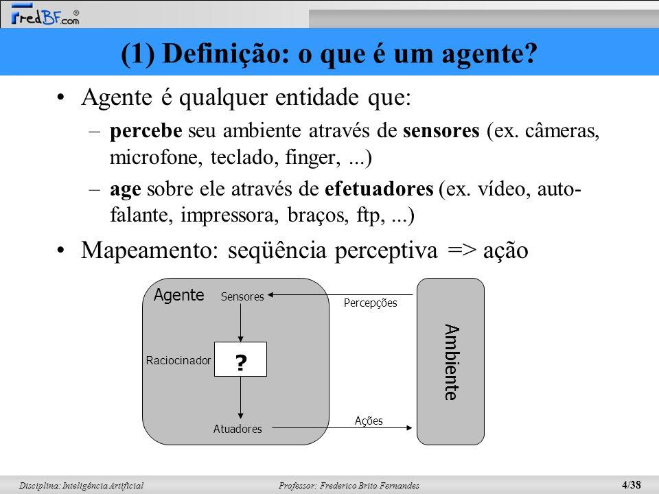 (1) Definição: o que é um agente