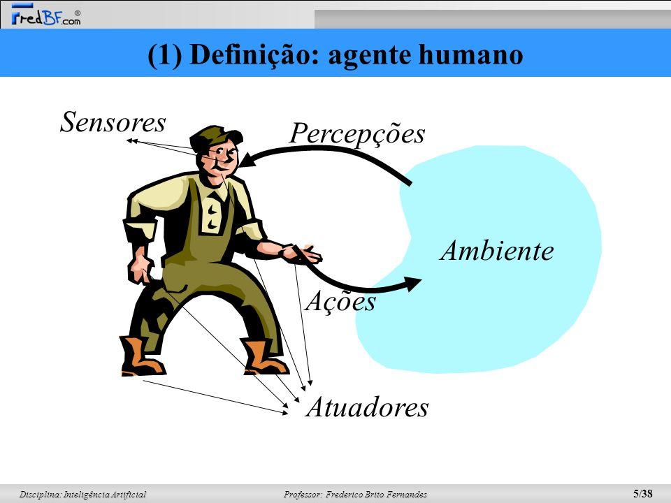 (1) Definição: agente humano