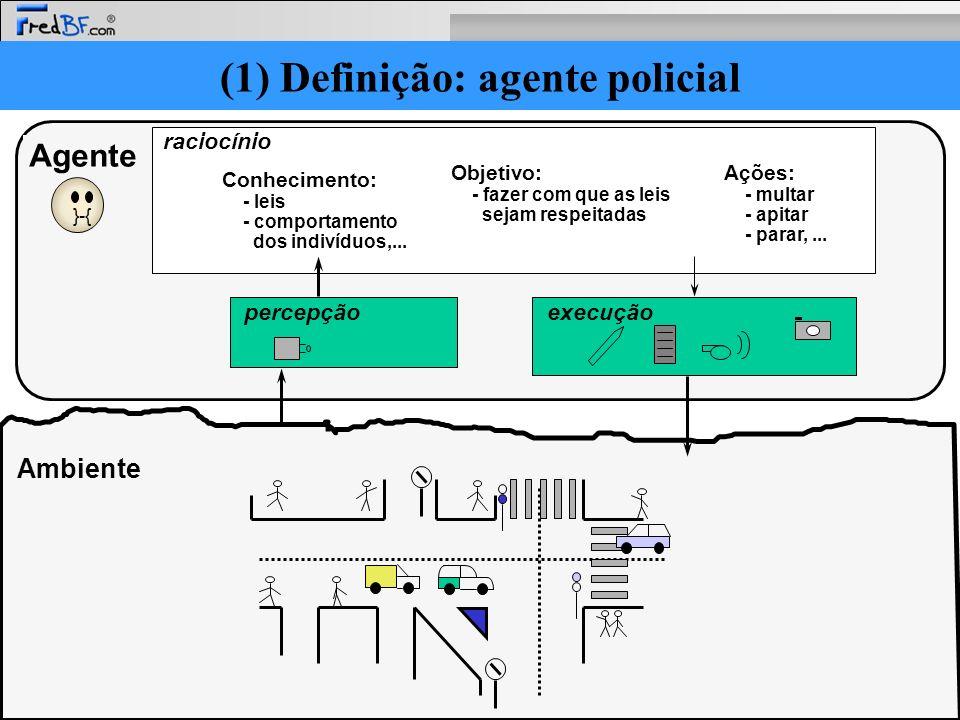 (1) Definição: agente policial