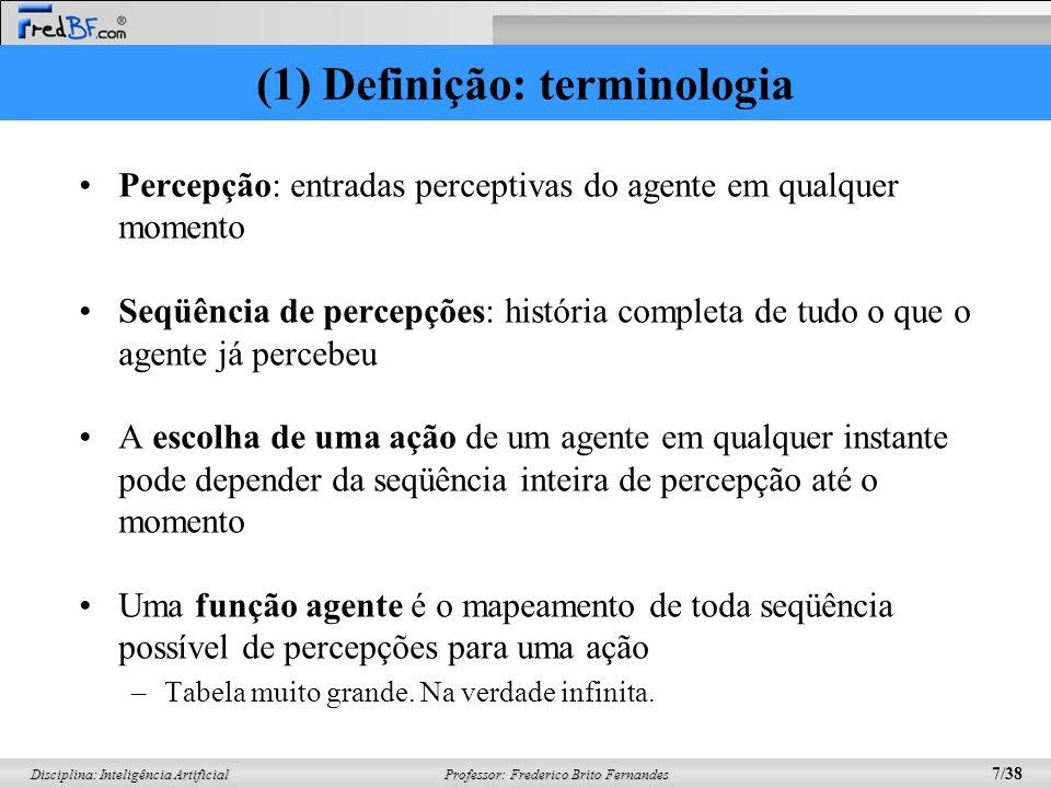 (1) Definição: terminologia