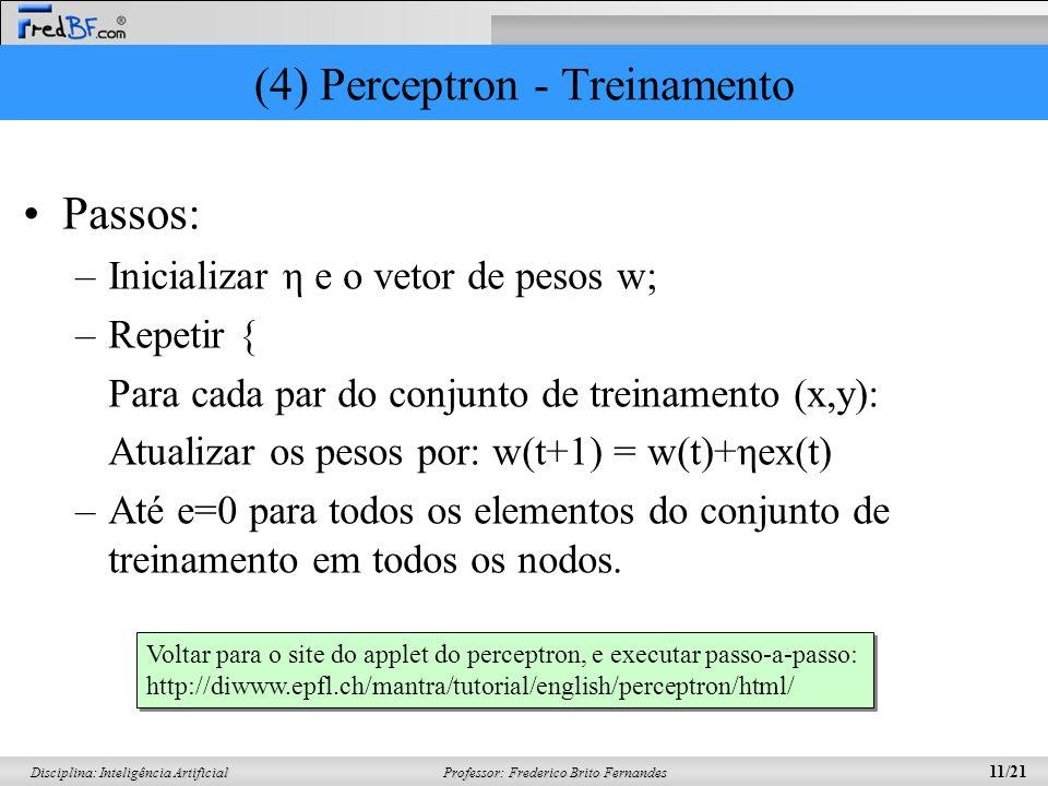 (4) Perceptron - Treinamento