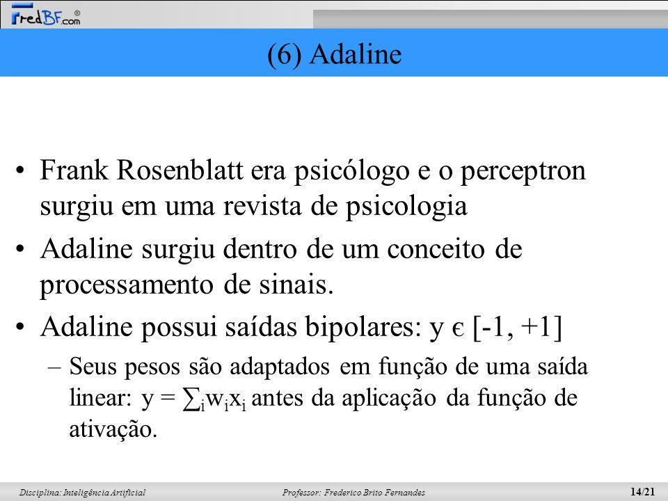 Adaline surgiu dentro de um conceito de processamento de sinais.