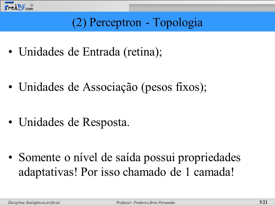 (2) Perceptron - Topologia