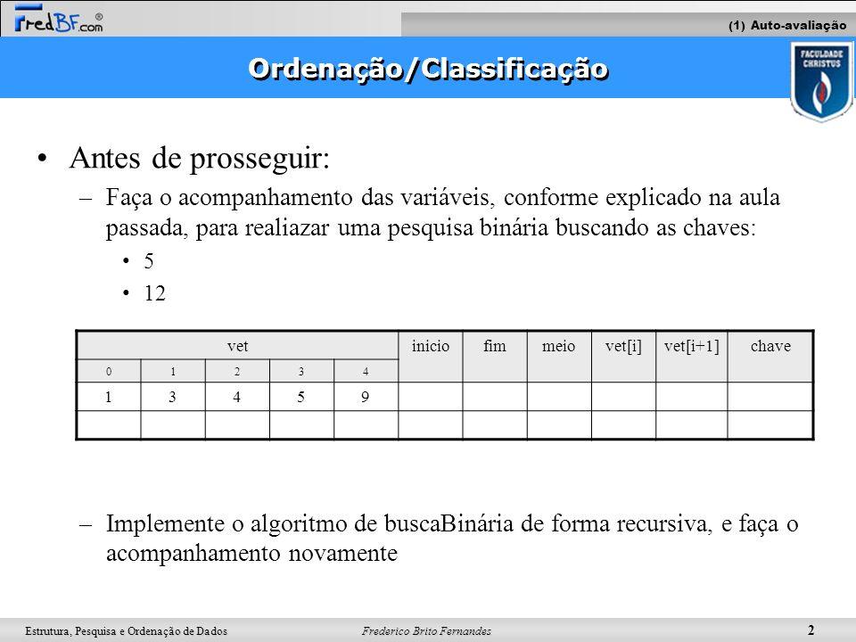 Ordenação/Classificação