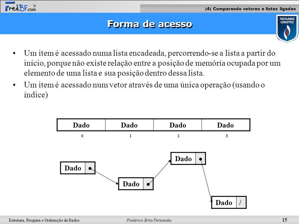 (4) Comparando vetores e listas ligadas