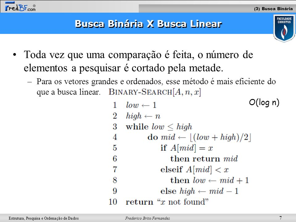 Busca Binária X Busca Linear