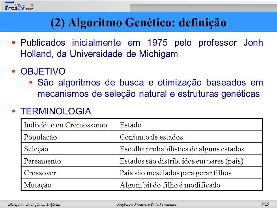(2) Algoritmo Genético: definição