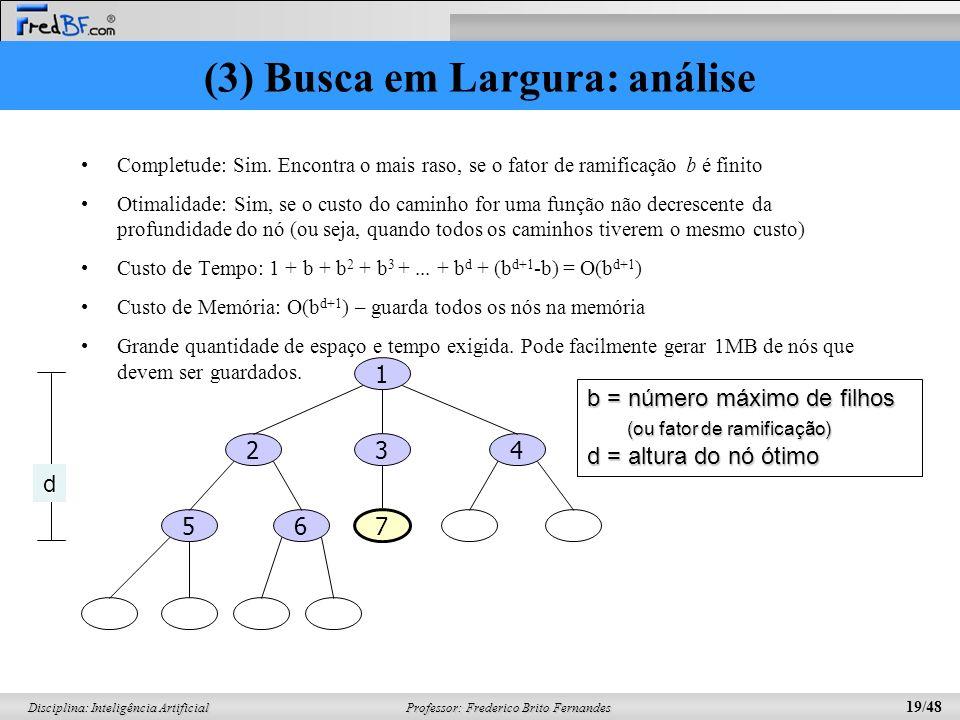 (3) Busca em Largura: análise
