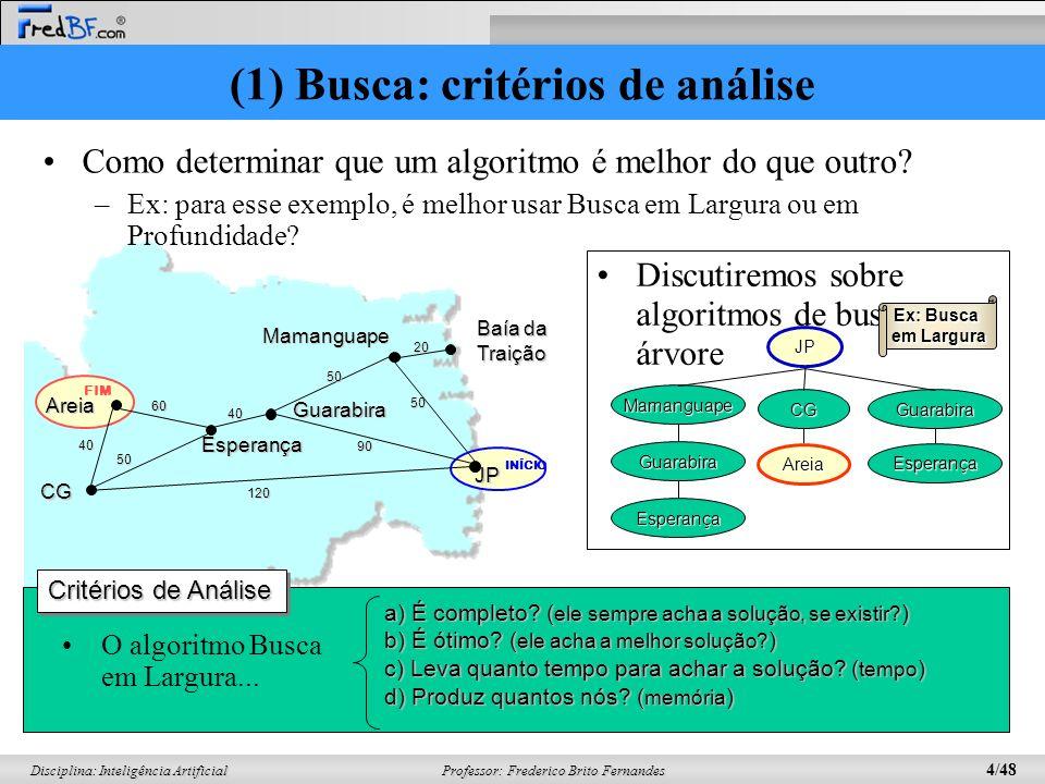 (1) Busca: critérios de análise