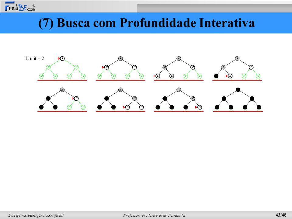 (7) Busca com Profundidade Interativa